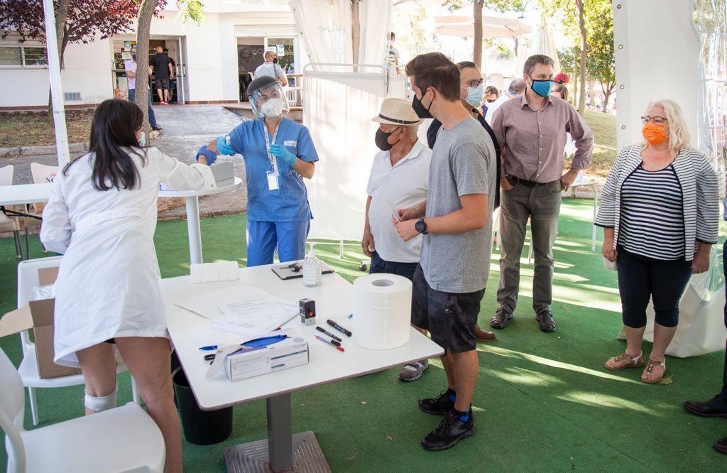 PCR masivas y gratuitas a los jóvenes en Oropesa