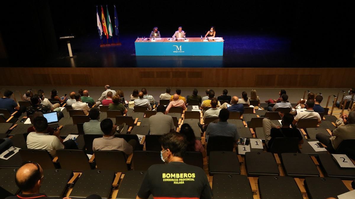 Celebración de la Junta General del Consorcio Provincial de Bomberos (CPB) de Málaga.