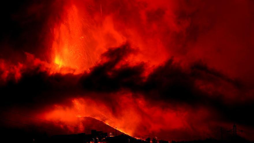 El aire del entorno del volcán sufre  su mayor deterioro desde la erupción
