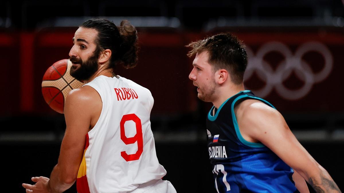 El jugador de baloncesto de la selección española, Ricky Rubio.