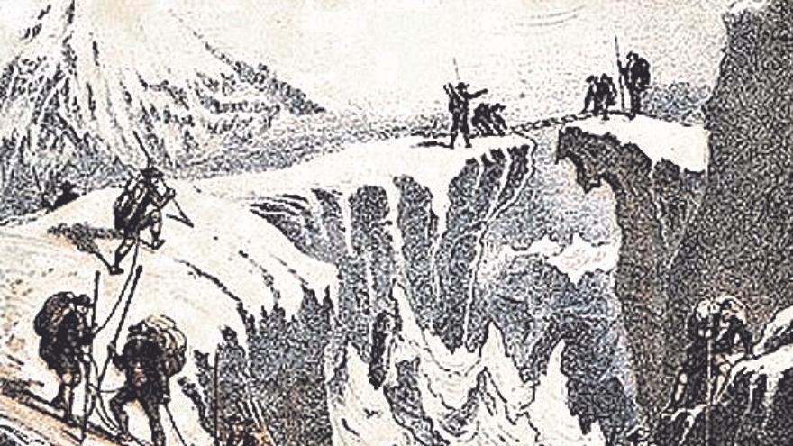 Marie Paradis y Henriette d'Angeville: las huellas sobre la nieve