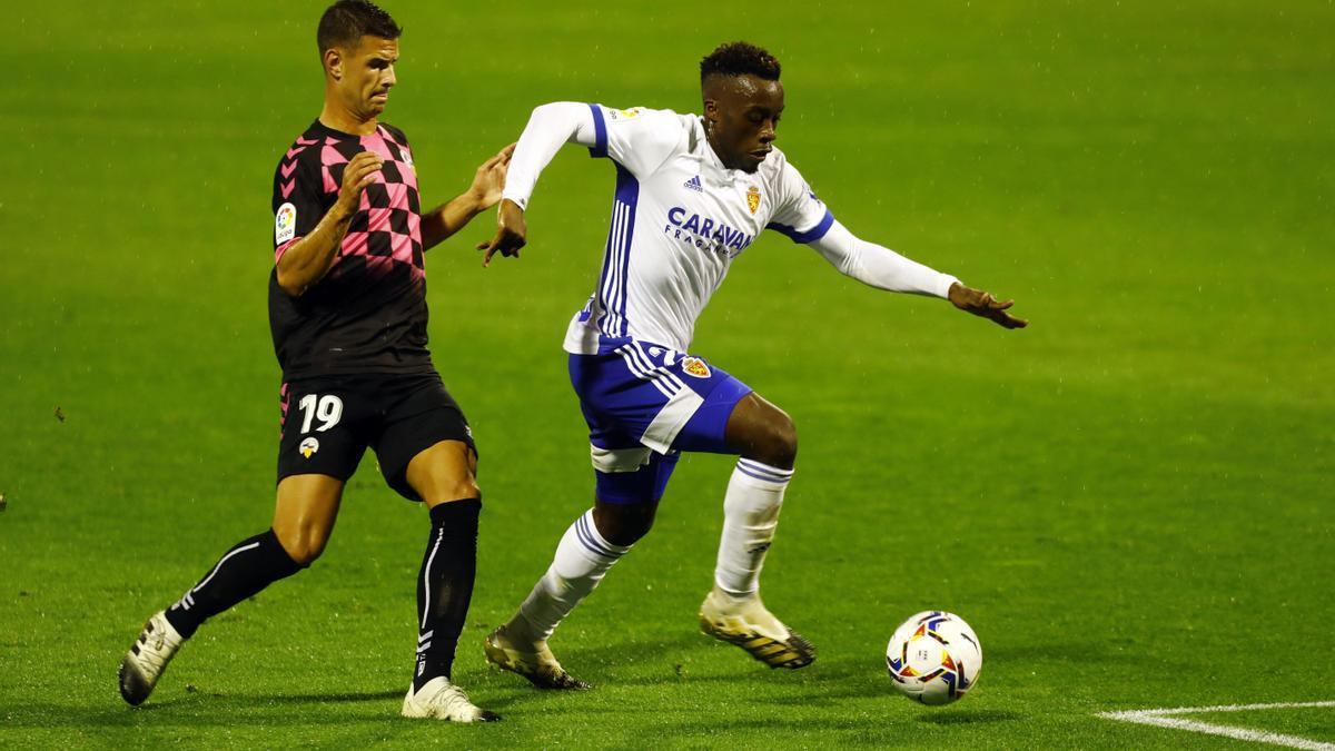 Jannick, en el partido contra el Sabadell de esta última temporada.