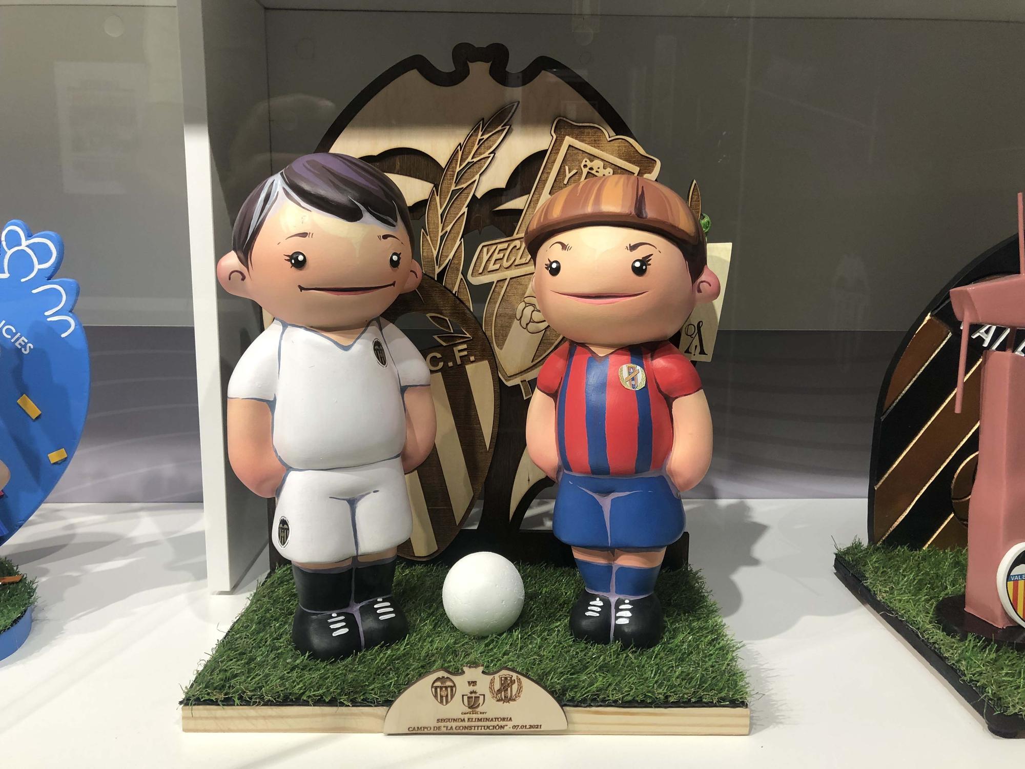 Los ninots que regaló el Valencia CF a sus rivales la temporada pasada