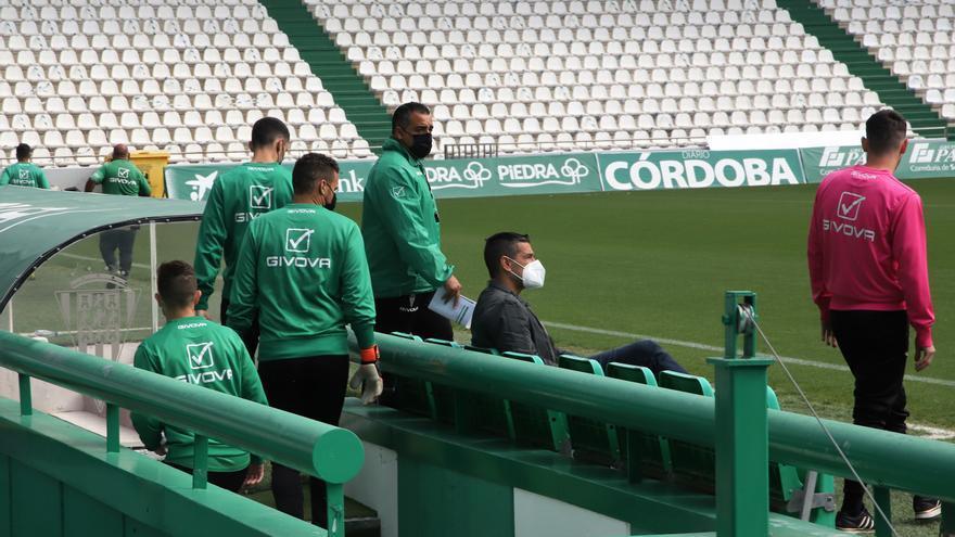 Germán Crespo dirige su primera sesión como entrenador del Córdoba CF