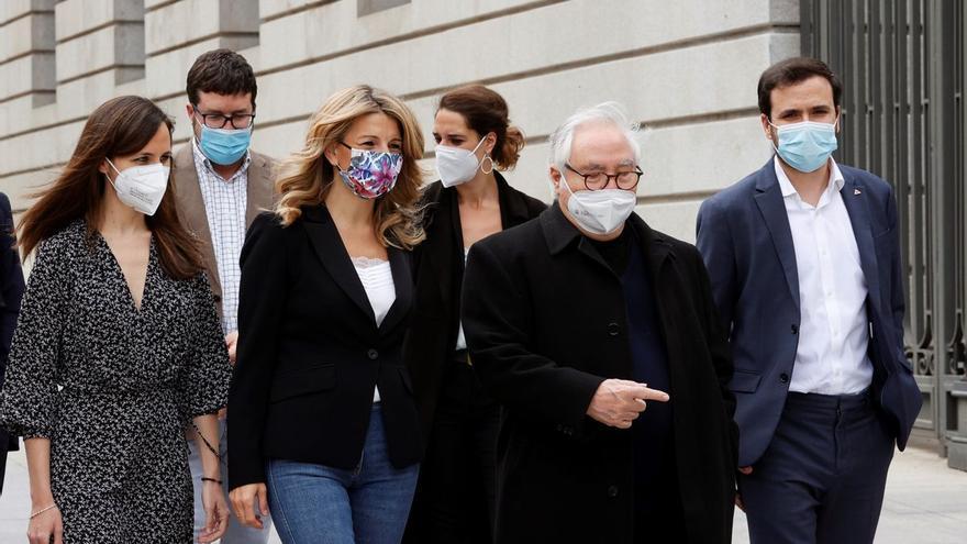 """Díaz llama a erigir un Unidas Podemos que dé """"sosiego y tranquilidad"""" en su relevo a Iglesias"""