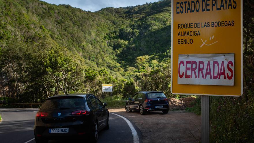 La entrada a San Andrés colapsada de nuevo este domingo