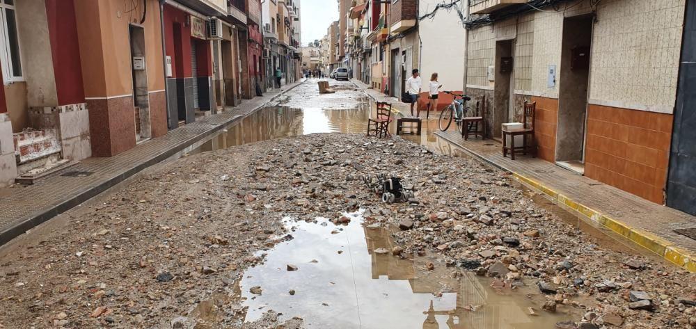Las piedras llegan a las calles de Orihuela