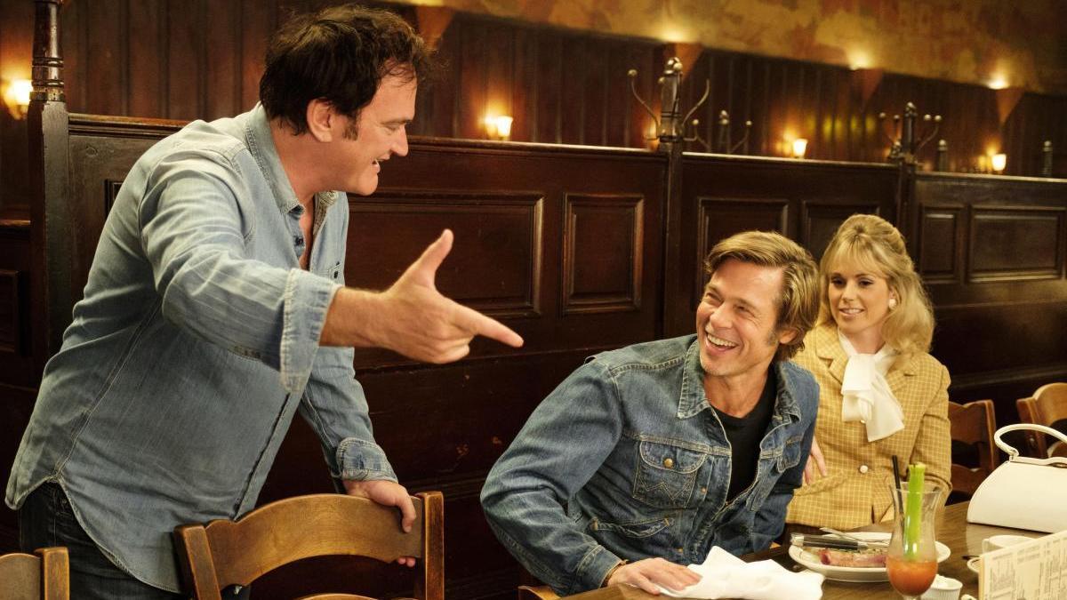 Quentin Tarantino y Brad Pitt.