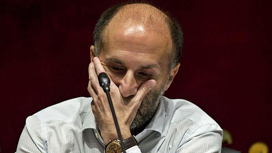 Pérez Jácome en uno de los plenos municipales.