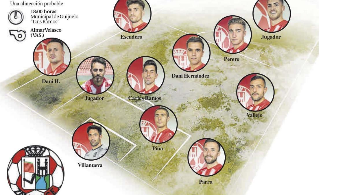Alineación del Zamora CF.