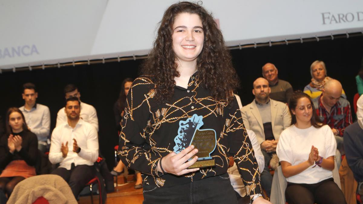 Judith Rodríguez, durante la Gran Gala do Deporte de Vigo de 2019.