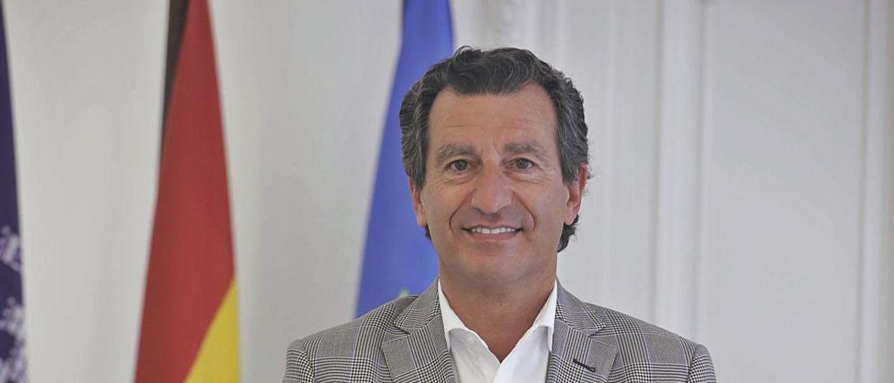 El presidente del PP  balear Biel Company posa en la sede del PP para esta entrevista. |  G.BOSCH