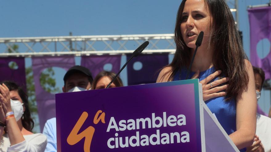 Ione Belarra dedica a Iglesias su primeras palabras como nueva secretaria general de Podemos