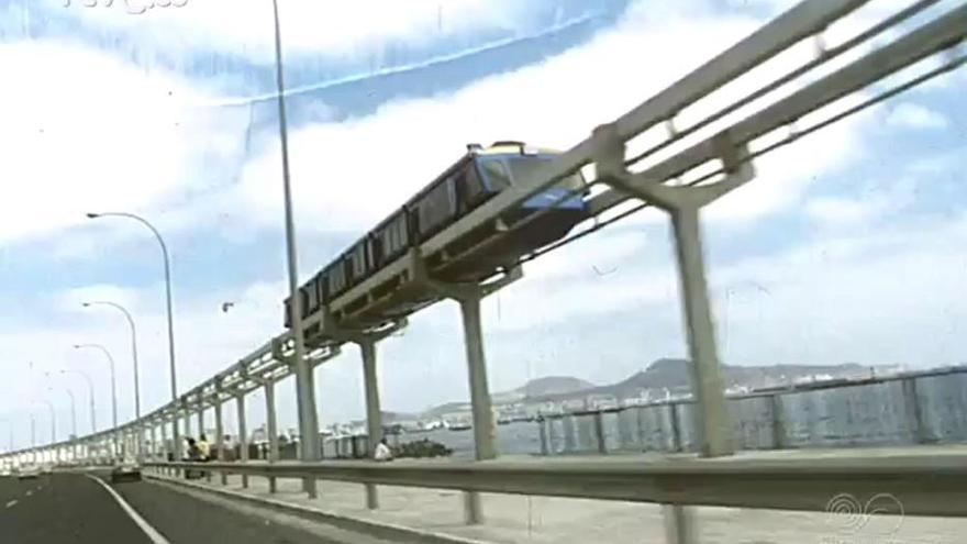 Nodo de la prueba realizada con el Tren Vertebrado de la Avenida Marítima (1974)