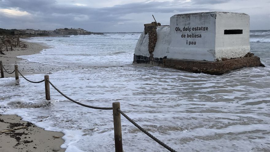 El aumento del nivel del mar en Balears podría engullir 476 viviendas, 80 hoteles, colegios y carreteras en los próximos 80 años