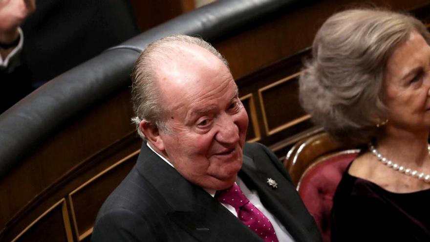ERC, JxCat y Bildu piden retirar los retratos de Juan Carlos I del Congreso