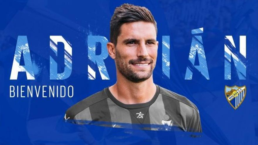 El Málaga incorpora a Adrián González a coste cero