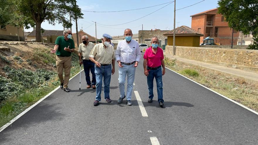 Quintanilla del Monte mejora su carretera a Villalpando