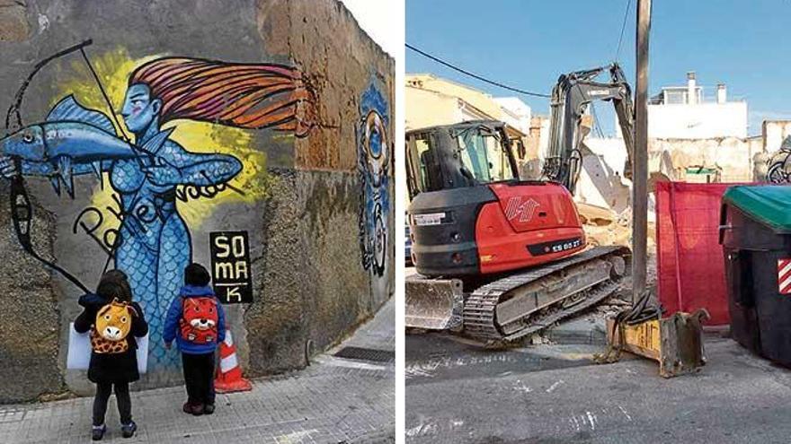 Desaparecen grafitis de Soma ene el Molinar