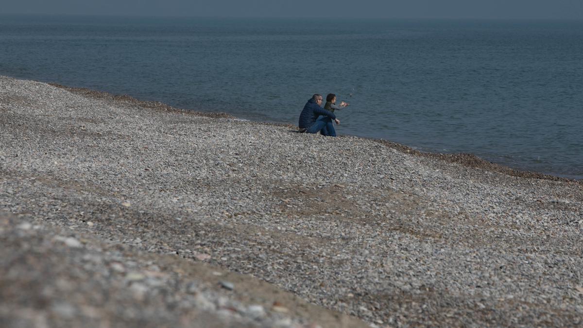 Imagen de archivode las playas del norte de Sagunt