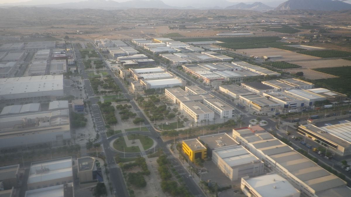 Vista aérea de Elche Parque Empresarial.