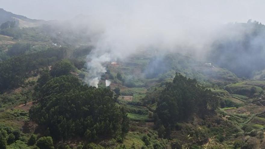 Conato de incendio en la zona de Montaña Alta de Guía