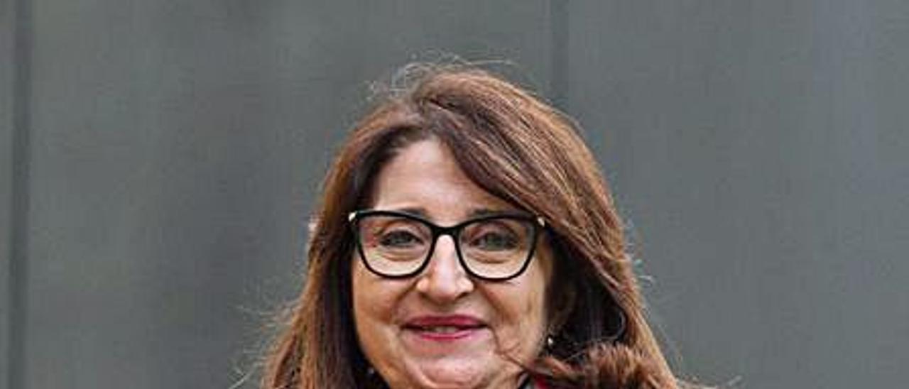 La rectora de la UA, Amparo Navarro.   ALEX DOMÍNGUEZ