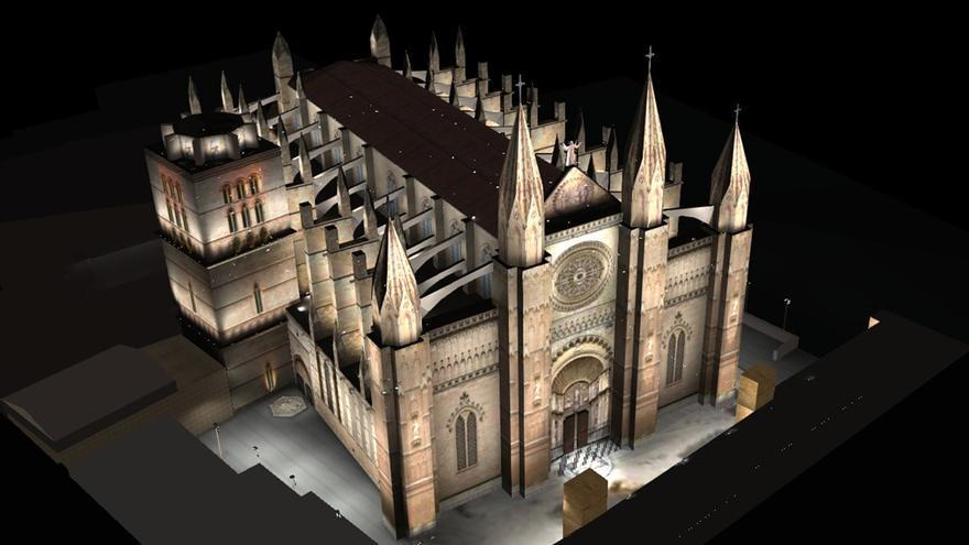 La nueva iluminación exterior de la Catedral solo proyectará luz blanca