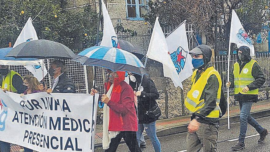 Manifestación en Meaño en defensa de la sanidad pública
