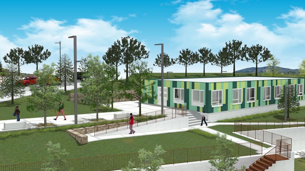 Un «render» de com quedarà el nou Centre Tramuntana.