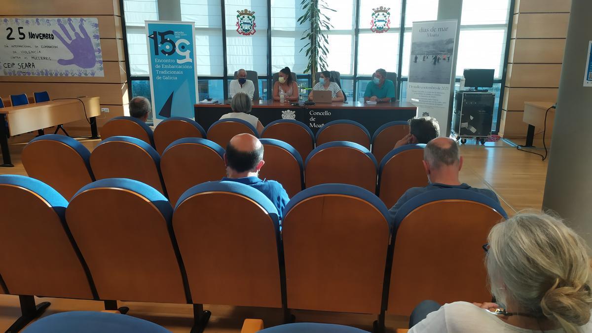 Reunión esta tarde del comité organizador del Encontro en el Concello de Moaña.