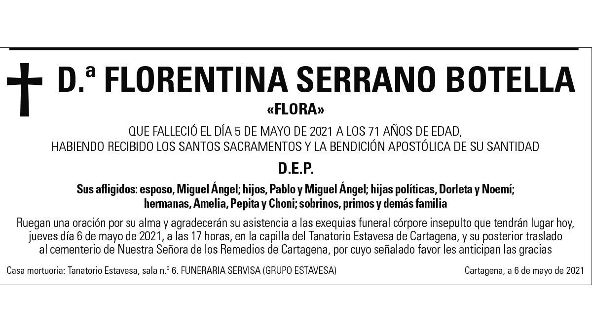 Dª Florentina Serrano Botella