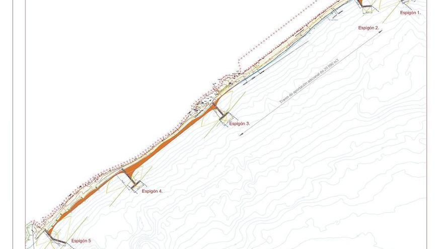 Las playas de San Pedro tendrán seis espigones de hasta 200 metros