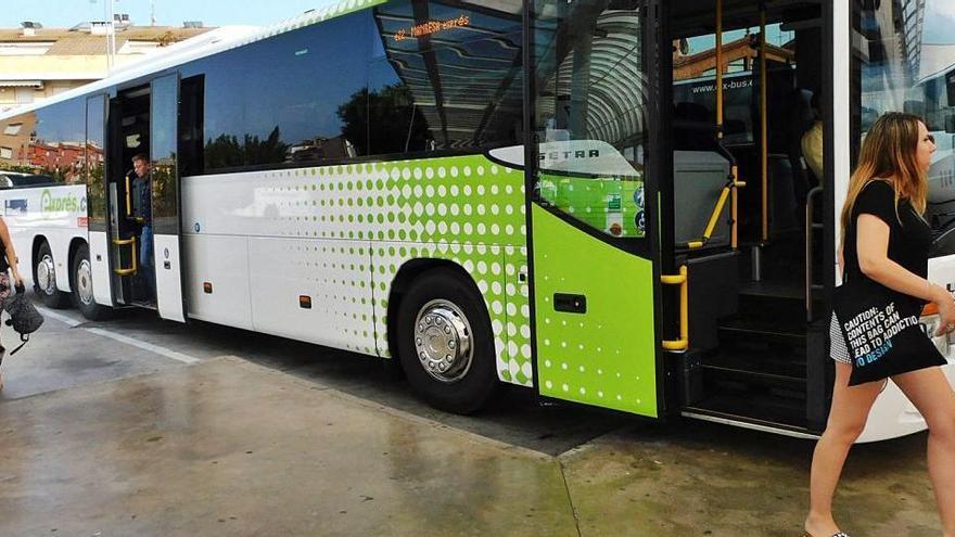 La nova parada del bus de la línia de  Barcelona no alterarà horaris ni itinerari