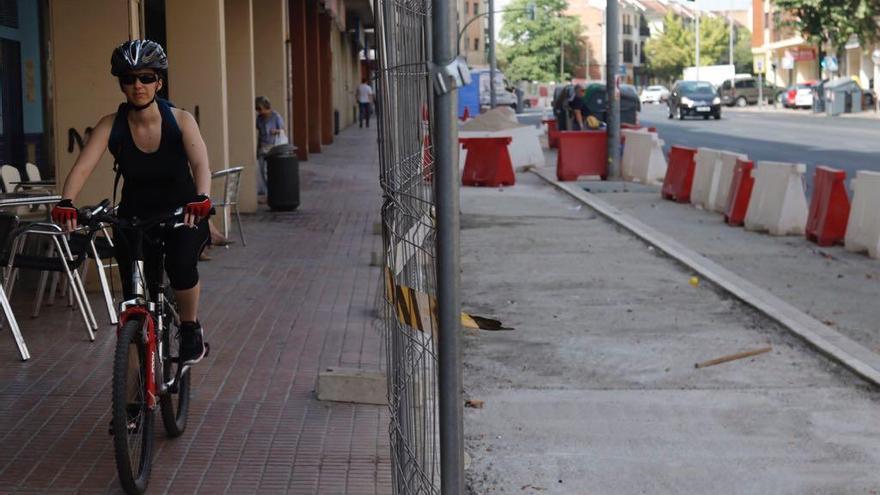 Los carriles bici del Marrubial y Ollerías estarán en septiembre y serán los últimos en culminarse