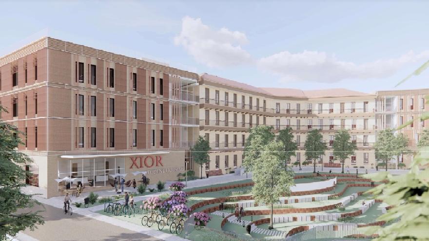 Así será la futura residencia universitaria en el antiguo cuartel de Pontoneros de Zaragoza