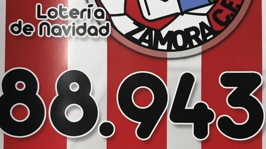 El Zamora CF pone a la venta el número el sorteo de Navidad