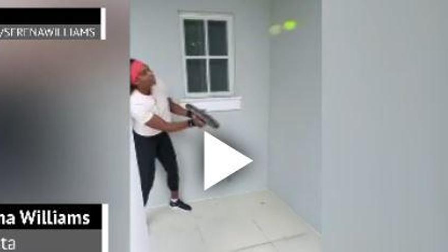 Vídeo   Serena Williams se apunta al reto de Federer