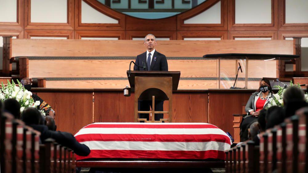 Funeral at Ebeneezer Baptist Church of U.S. ...