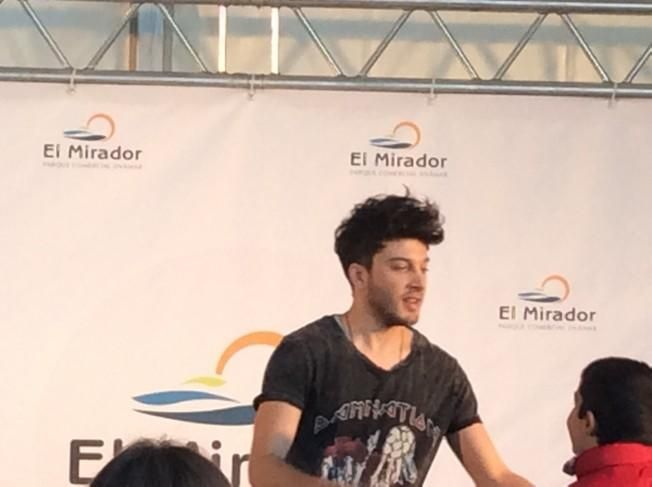 Blas Cantó, en el Centro Comercial El Mirador