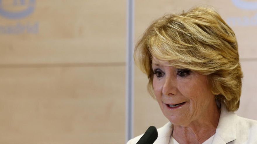 Esperanza Aguirre, hospitalizada por coronavirus