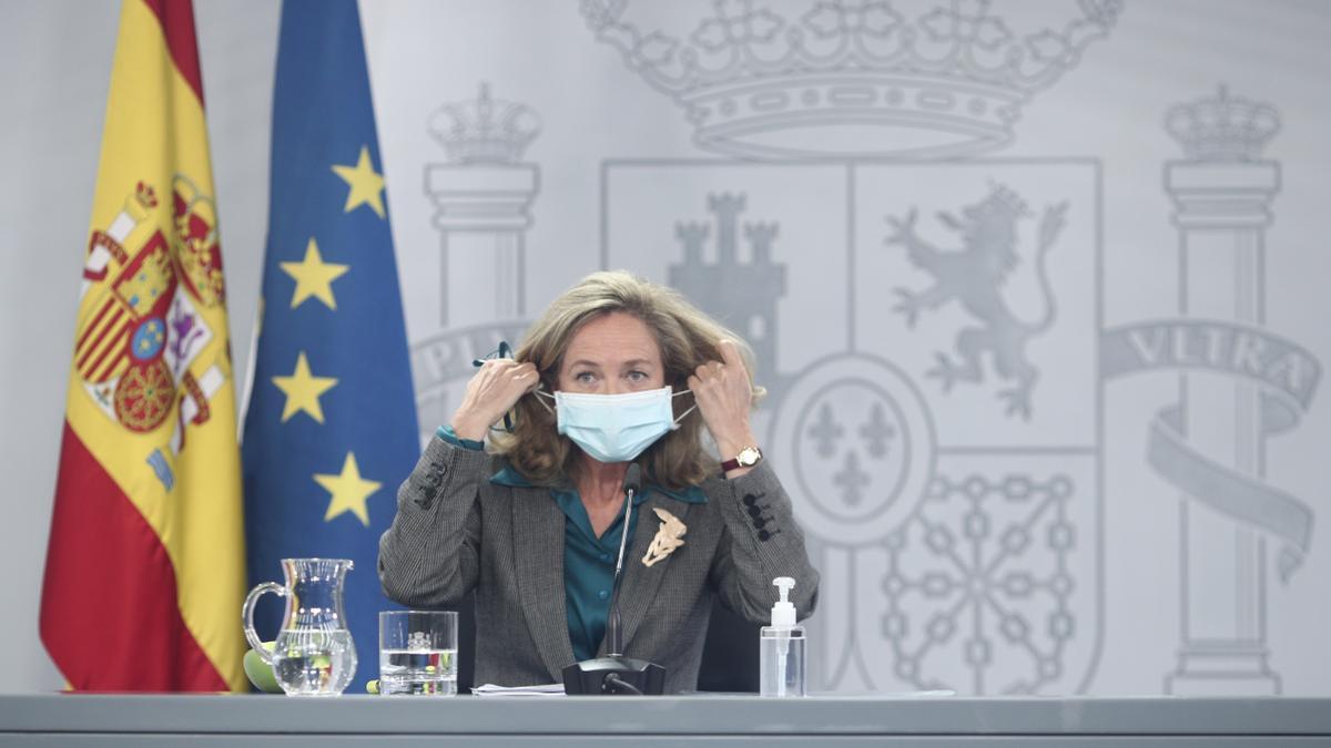 La vicepresidenta y Ministra de Asuntos Económicos y Digitalización, Nadia Calviño