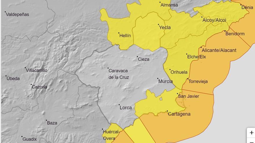 Alertas amarilla y naranja por viento para hoy en la Región