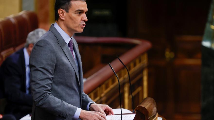 Pedro Sánchez defiende en el Congreso el Plan de Recuperación