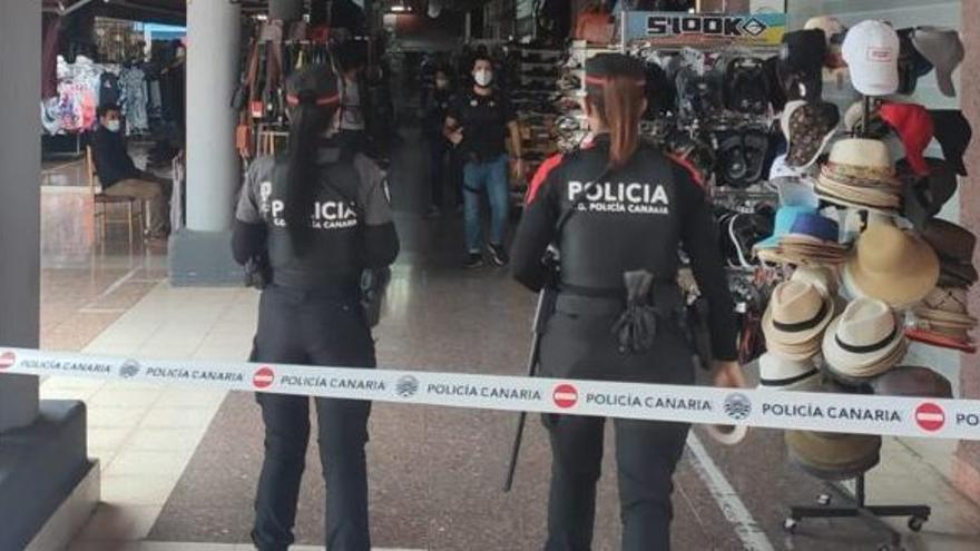 La Policía Canaria incauta productos falsos por 2,6 millones en el Yumbo