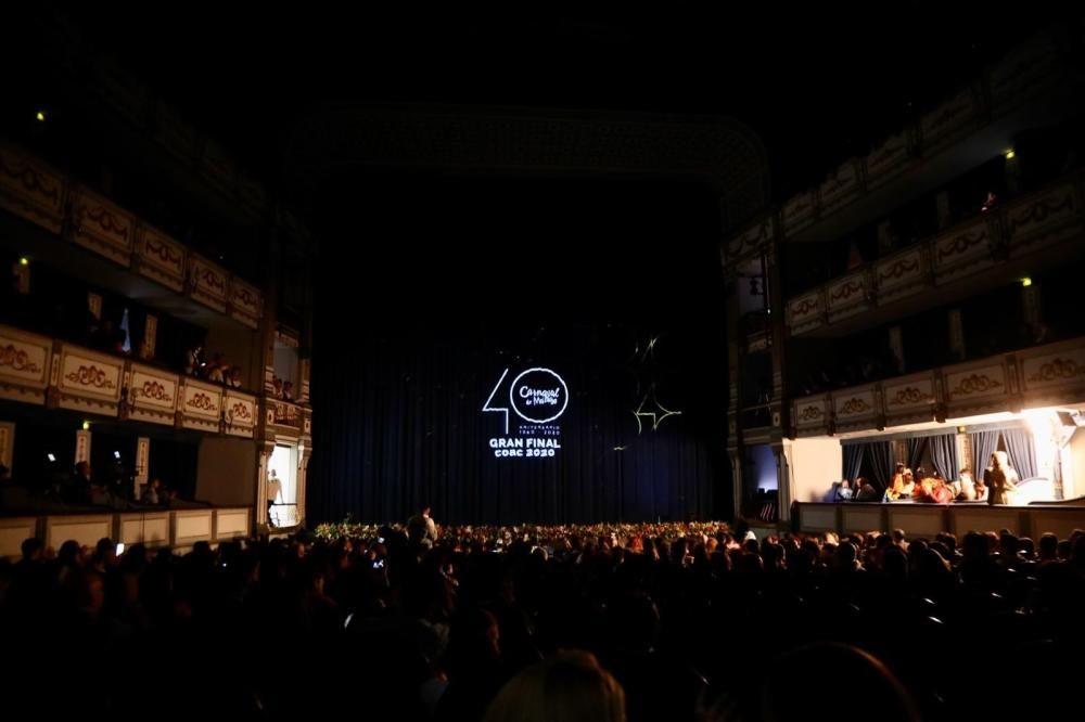 Momentos previos al comienzo de la final del COAC de Málaga 2020.
