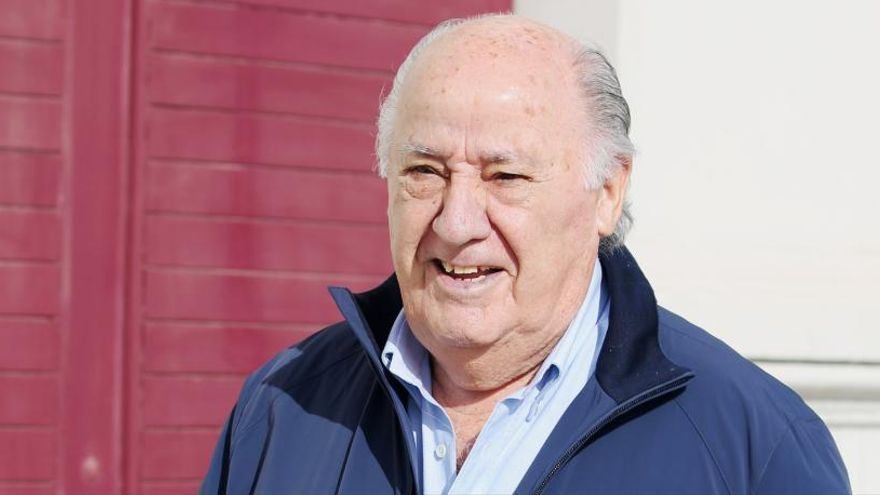Amancio Ortega ingresará este lunes 813 millones de euros en dividendos