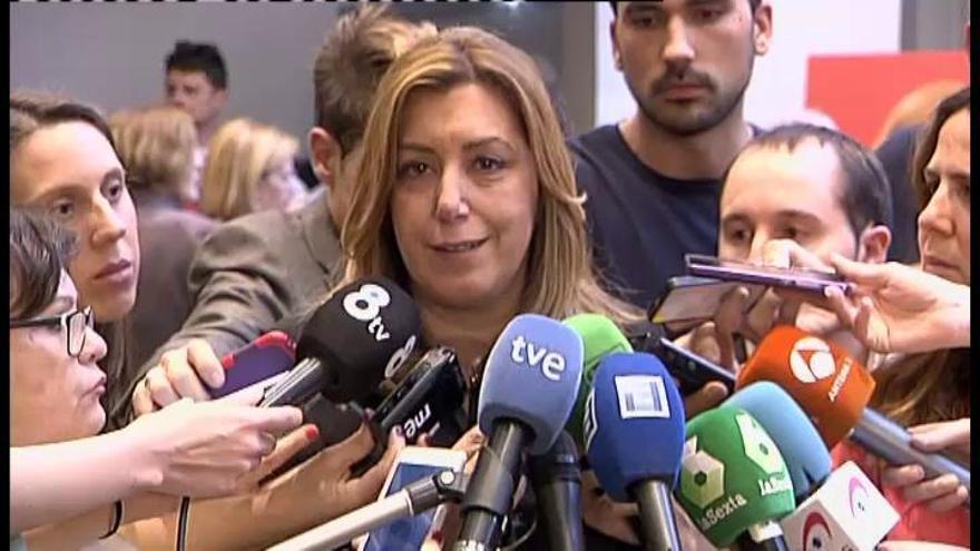 El PSOE se une en la despedida a Carme Chacón