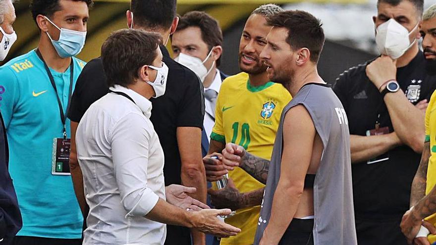 Suspendido el partido entre Brasil y Argentina por un conflicto sanitario