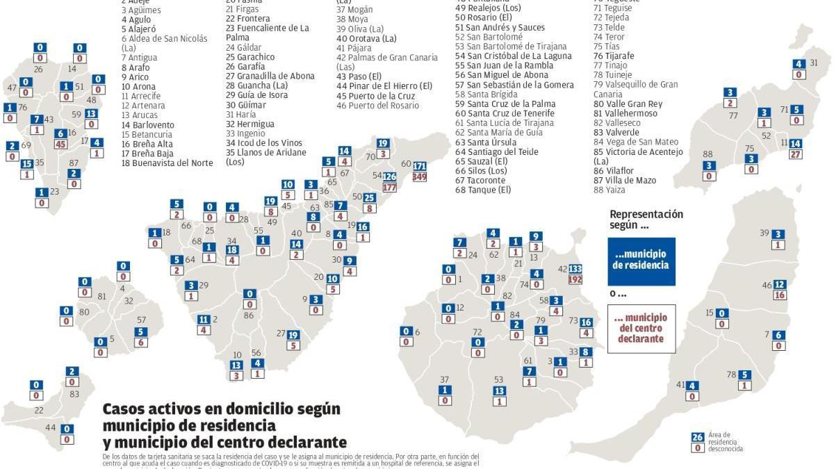 Mapa con la ocupación.